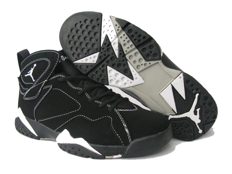 air jordan retro 7 black and white