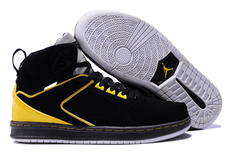 Air Jordan Sixty Club Black Yellow Shoes
