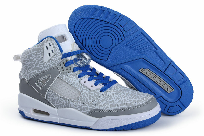 blue jordan shoes men