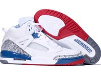 Authentic Air Jordan Spizike White Varsity Red True Blue Shoes