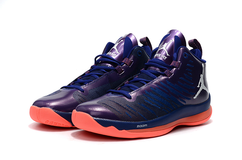 2016 Jordan Super Fly 5 Black Purple Orange Shoes