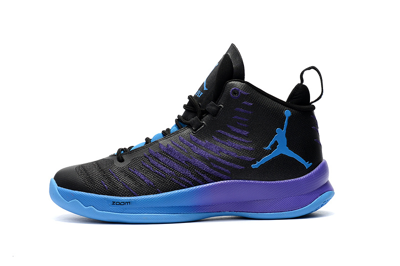 2016 Jordan Super Fly 5 Black Purple Shoes