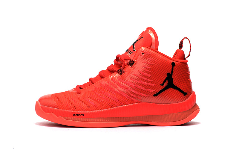 2016 Jordan Super Fly 5 Red Black Shoes