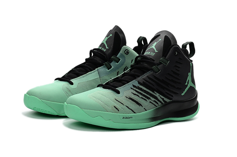 2016 Jordan Super Fly X Black Green Basketball Shoes