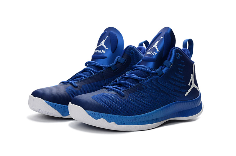 2016 Jordan Super Fly X Blue White Basketball Shoes