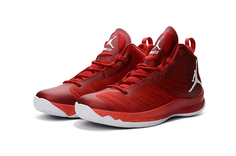 2016 Jordan Super Fly X Red White Basketball Shoes