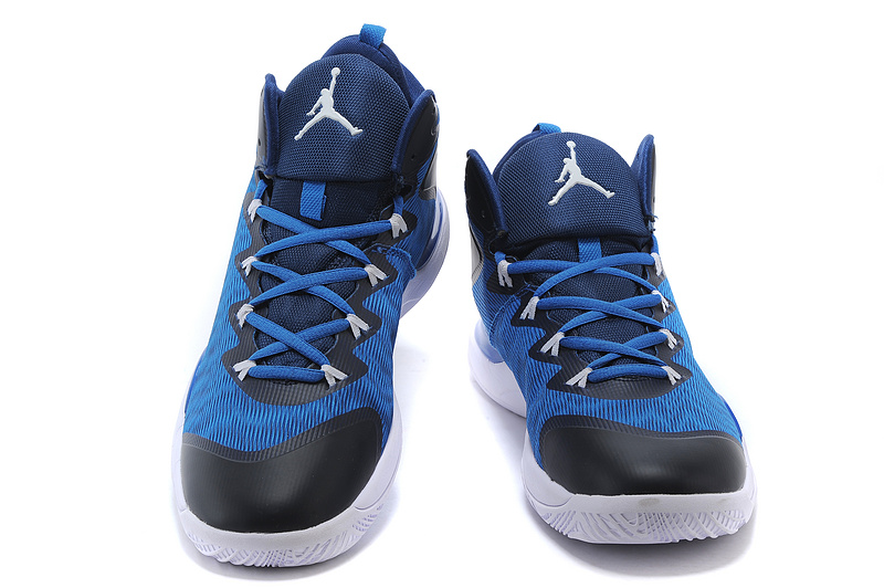 2015 Jordans Super.Fly 3 X Blue Black White
