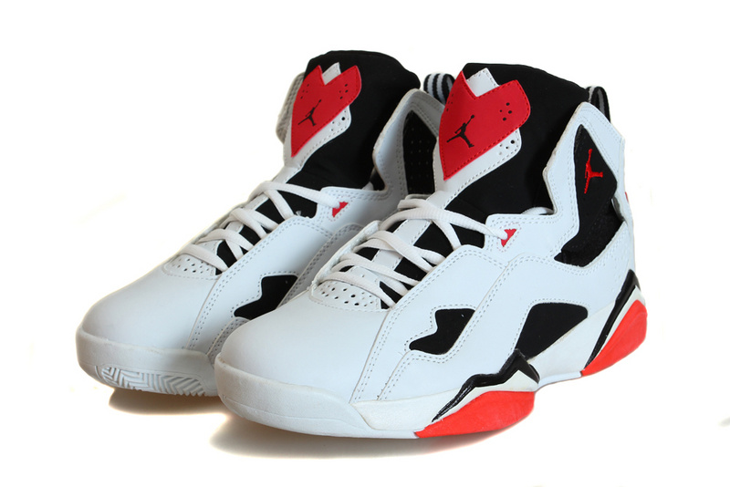 2015 Jordans True Flight White Black Red