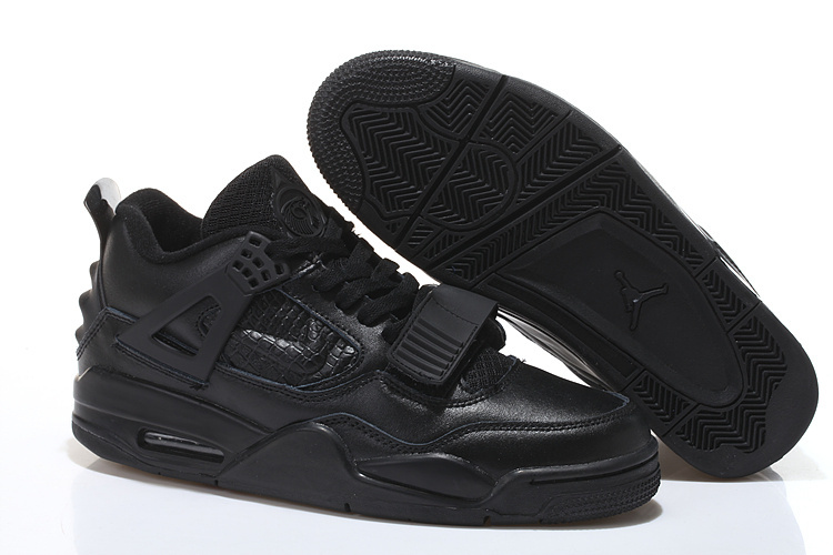 Limited Air Jordan 4 Shoes All Black