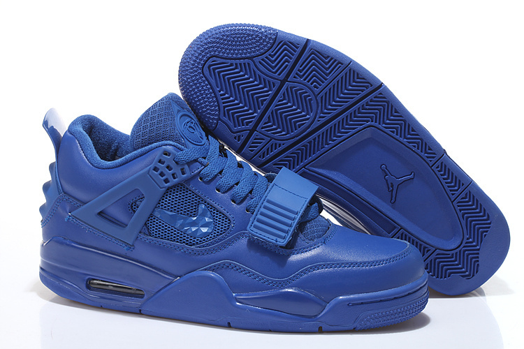Limited Air Jordan 4 Shoes All Blue