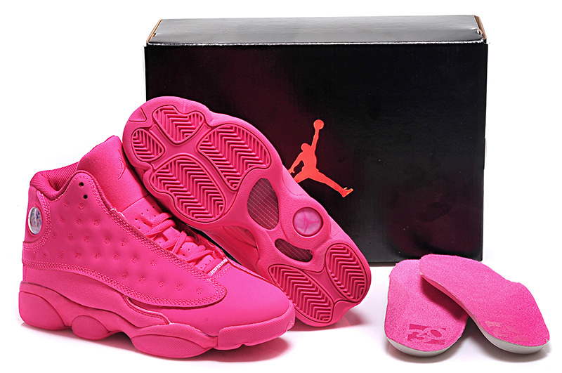 2015 All Pink Women's Air Jordan 13 Shoes