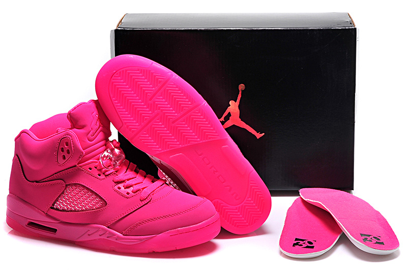 2015 Women's All Pink Air Jordan 5 Shoes