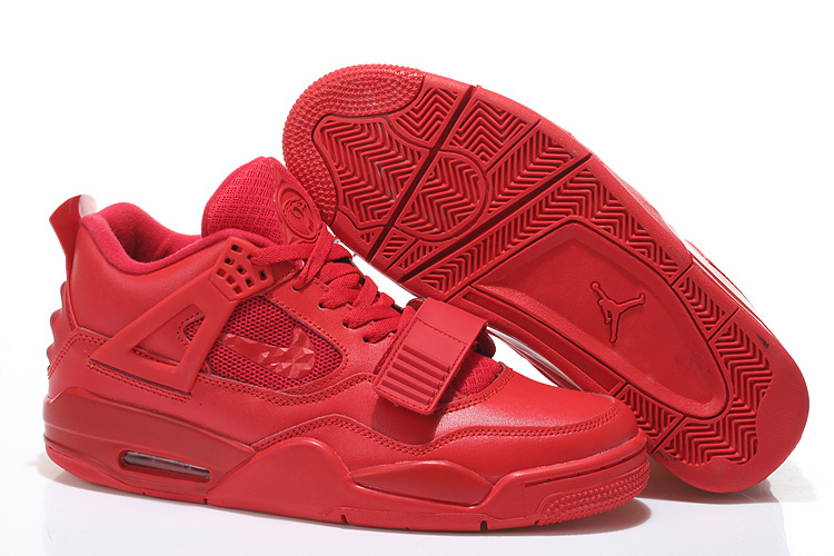 Limited Air Jordan 4 Shoes All Red