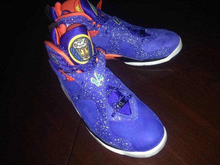 2015 Cheap Real Air Jordan 8 Doernbecher Blue Red Shoes