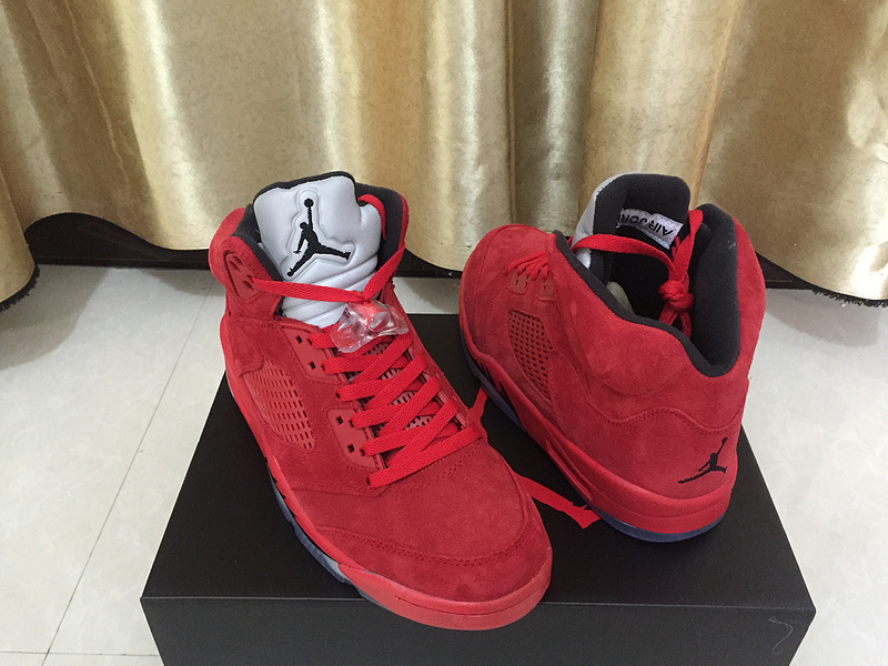 2017 Air Jordan 5 Bulls Red Shoes
