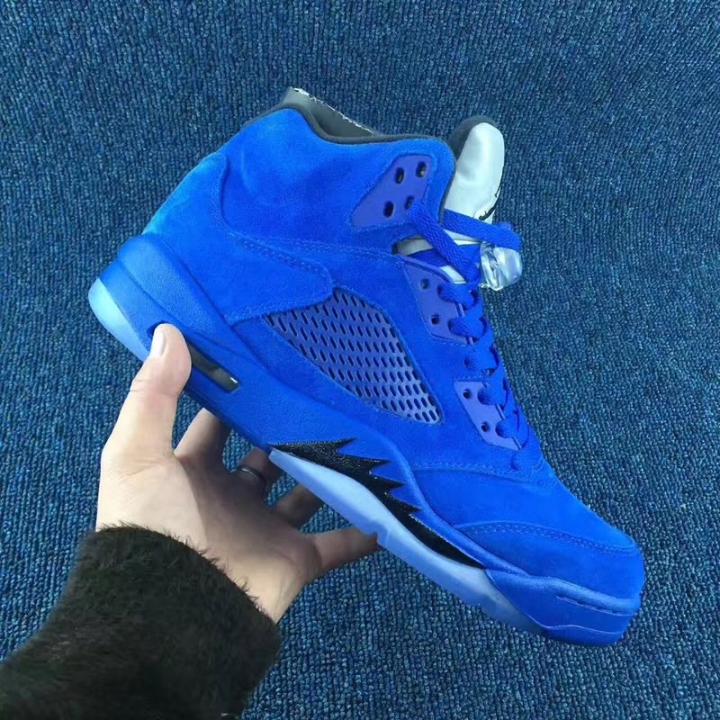 2017 Air Jordan 5 Sapphire Blue Shoes