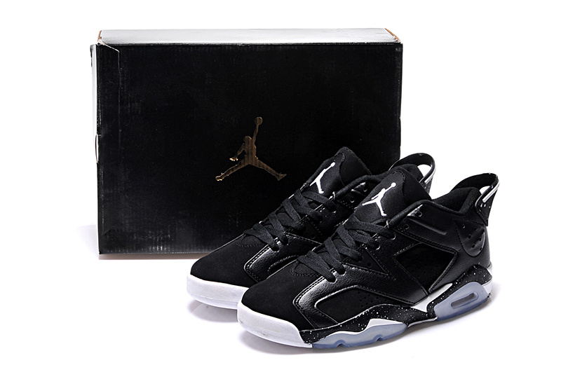 2015 Women Black White Air Jordan 6 Low Shoes