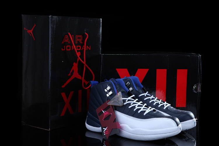 Chalcedony Air Jordan 12 Blue White Shoes