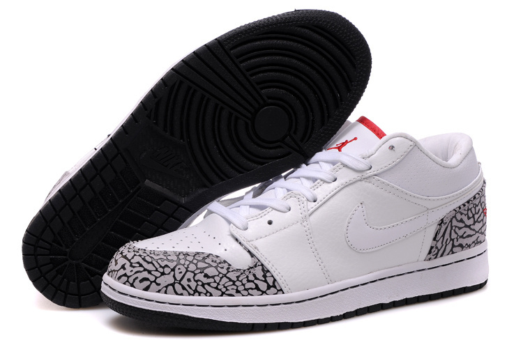 Air Jordan 1 Low White Red Cheetah Print Shoes