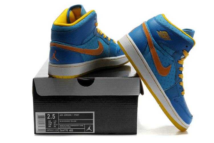 Air Jordan 1 Transparent Durable Sole Blue Orange