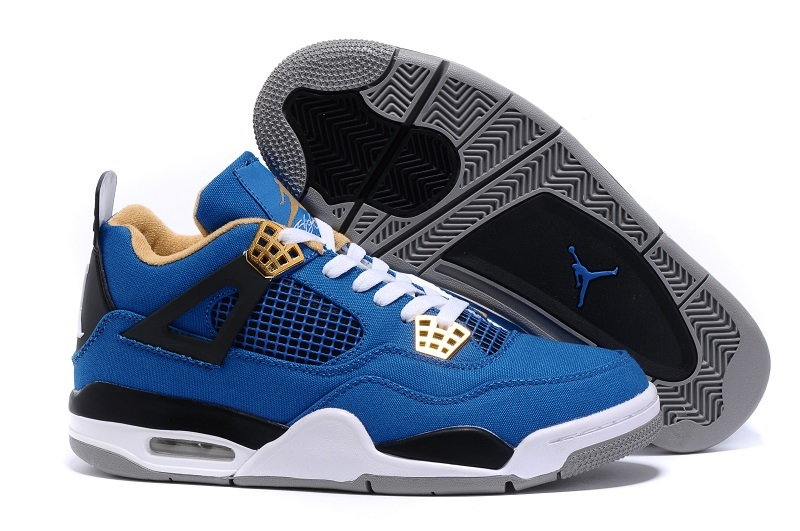2015 Eminem x Carhartt x Air Jordan 4 Blue White Black Shoes