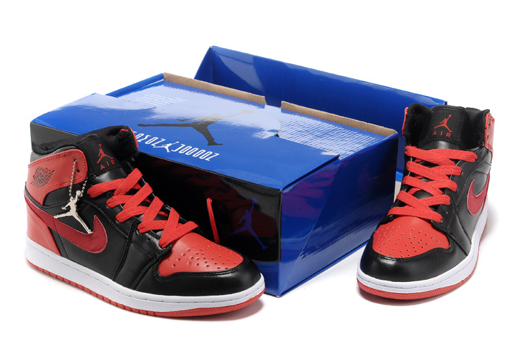 Hardcover Air Jordan 1 Black Red White Shoes