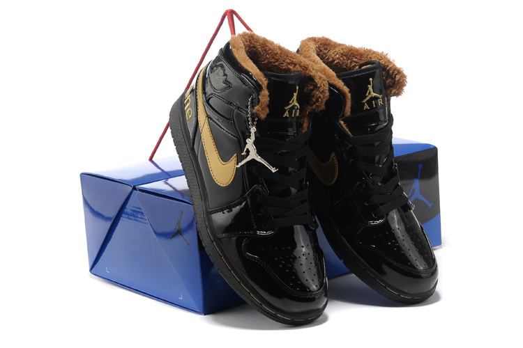 Hardcover Air Jordan 1 Wool All Black Shoes