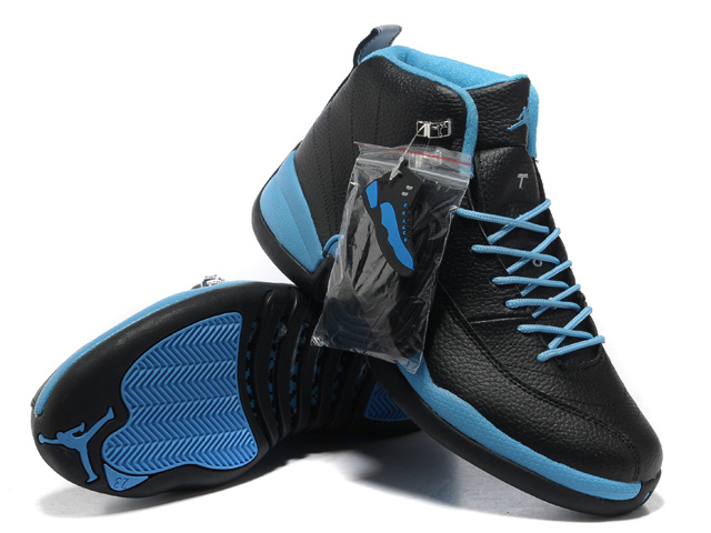 Hardcover Air Jordan 12 Black Blue Shoes