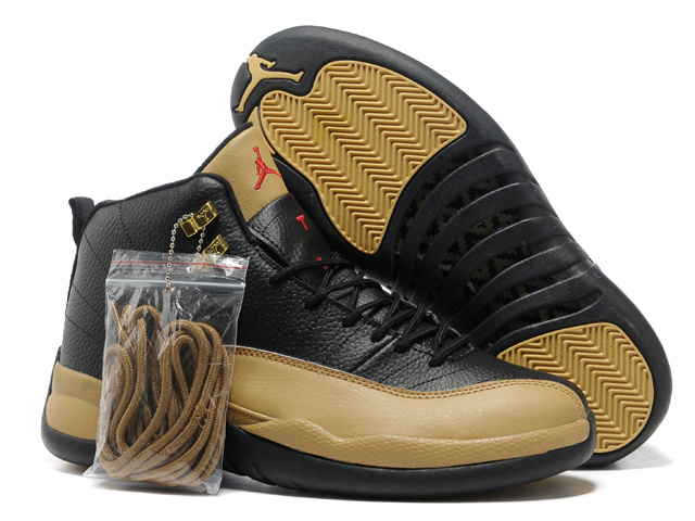 Hardcover Air Jordan 12 Black Brown Shoes