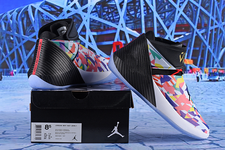 Jordan Why Not Zer0.1 Colorful Red Black Shoes