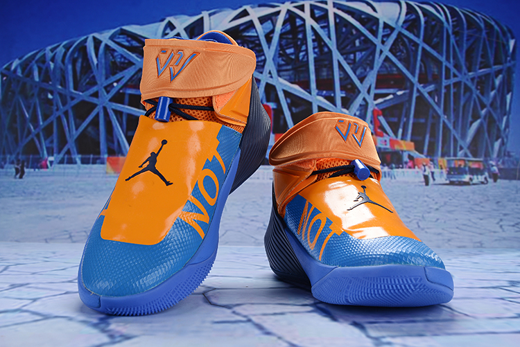 Jordan Why Not Zer0.1 Orange Blue Shoes