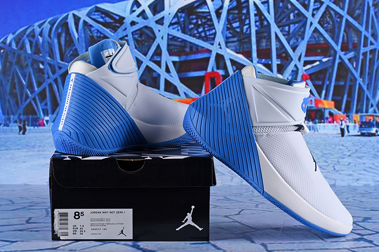 Jordan Why Not Zer0.1 White Blue Shoes