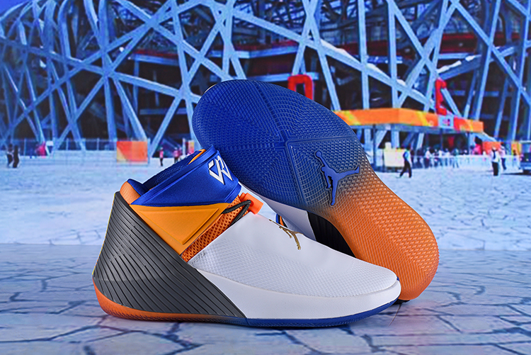 Jordan Why Not Zer0.1 White Orange Black Blue Shoes