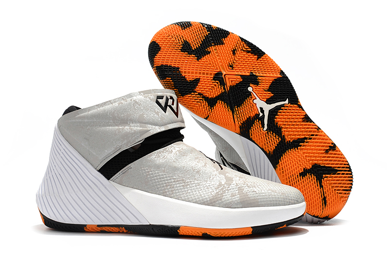 Jordan Why Not Zero 1 Grey Black Orange Shoes