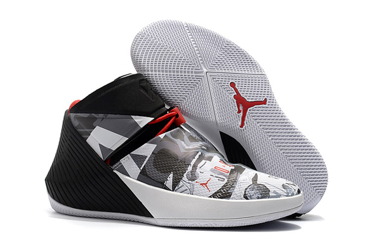 Jordan Why Not Zero.1 Black Grey White Red Shoes