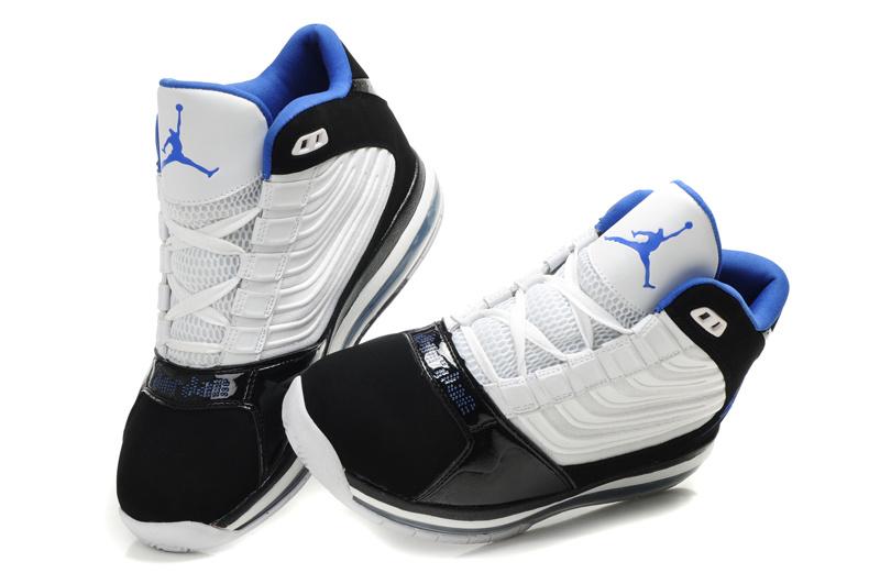 Air Jordan Big Ups Black White Blue