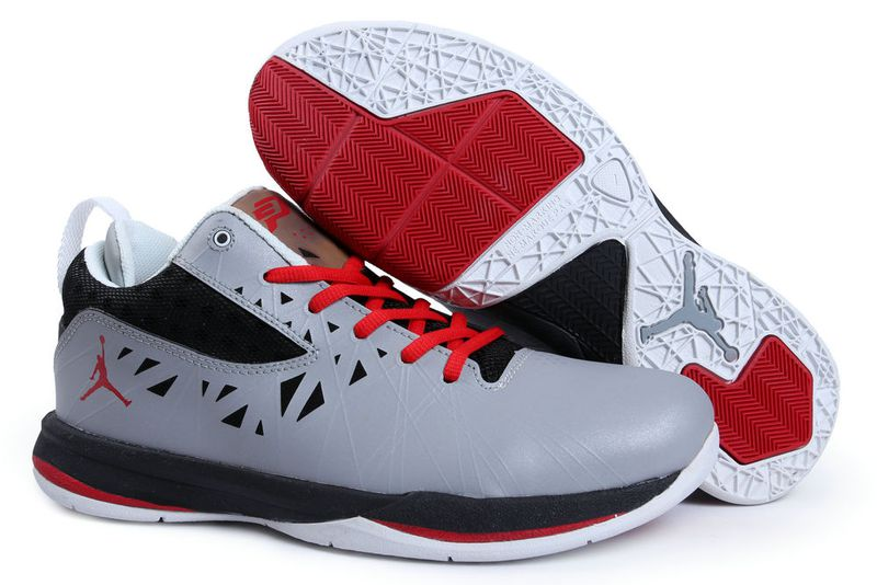 Jordan CP3 5 Grey Black White Red Shoes