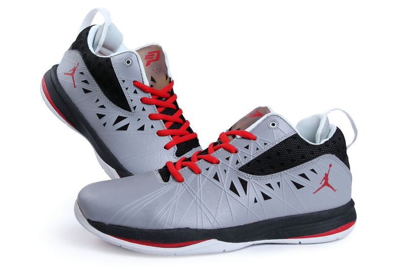 Jordan CP3 5 Grey Black White Red Shoes