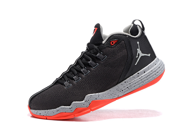 2016 Jordan CP3 IX AE Black Reddish Orange Shoes