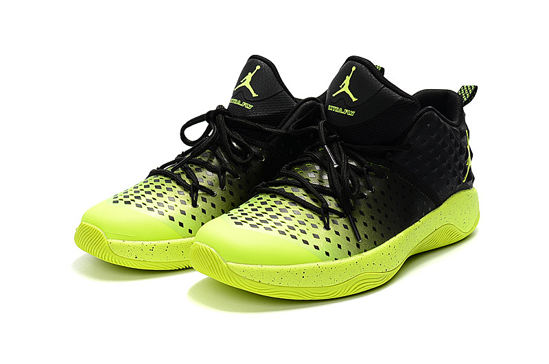 2016 Jordan Extra.Fly Black Fluorscent Green Shoes