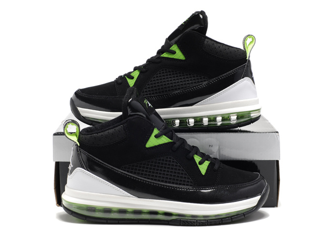 Jordan Fly Whole Palm Black White Green Shoes