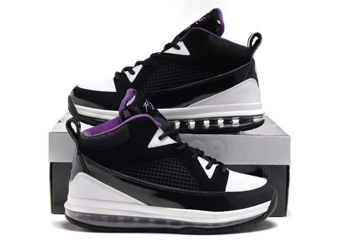 Jordan Fly Whole Palm Black White Purple Shoes