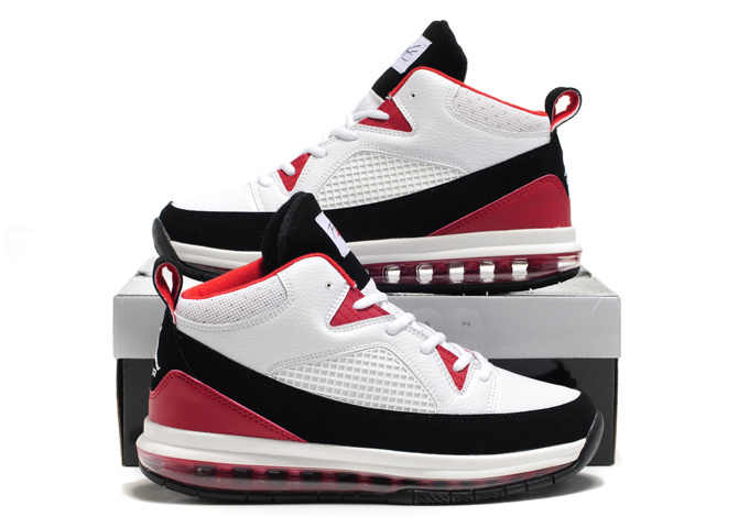 Jordan Fly Whole Palm White Red Black Shoes