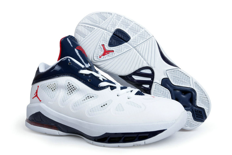 Jordan Melo 8 White Blue Shoes