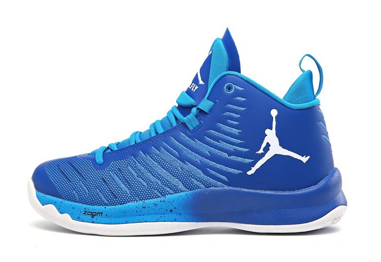 2016 Jordan Super Fly X Blue White Shoes