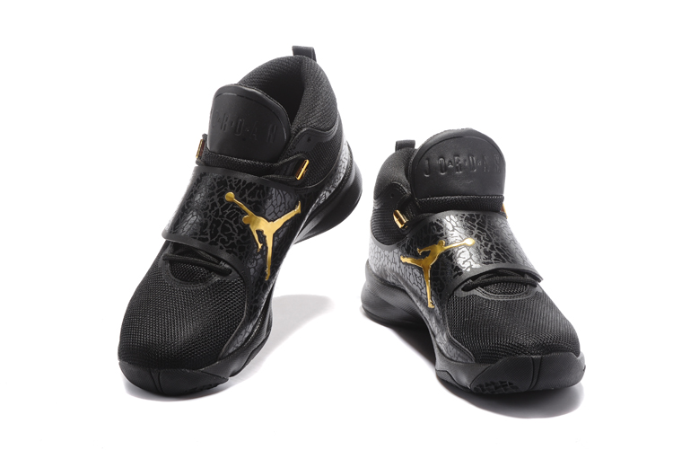 2017 Jordan Super.Fly 5 Black Gold Shoes