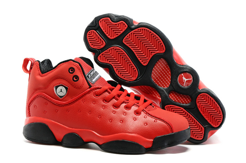 Jordan Team 2 GS All Red Black Shoes