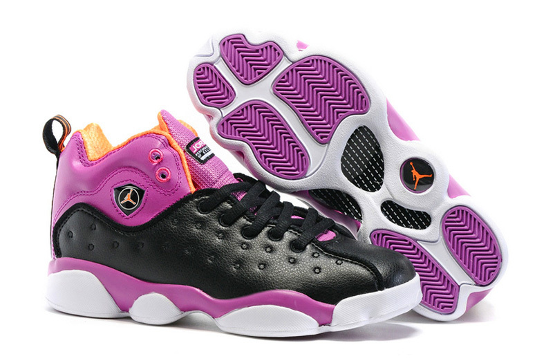 Jordan Team 2 GS Black Purple Shoes