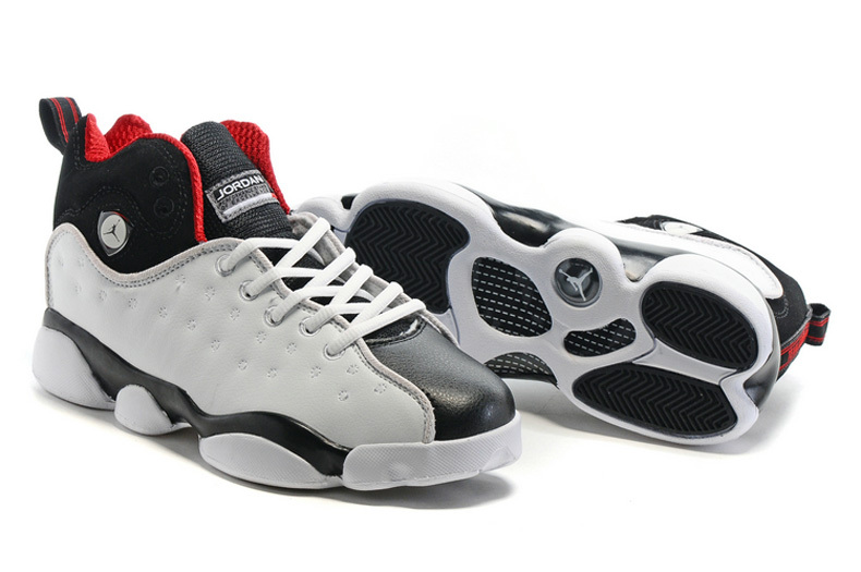 Jordan Team 2 GS White Black Red Shoes