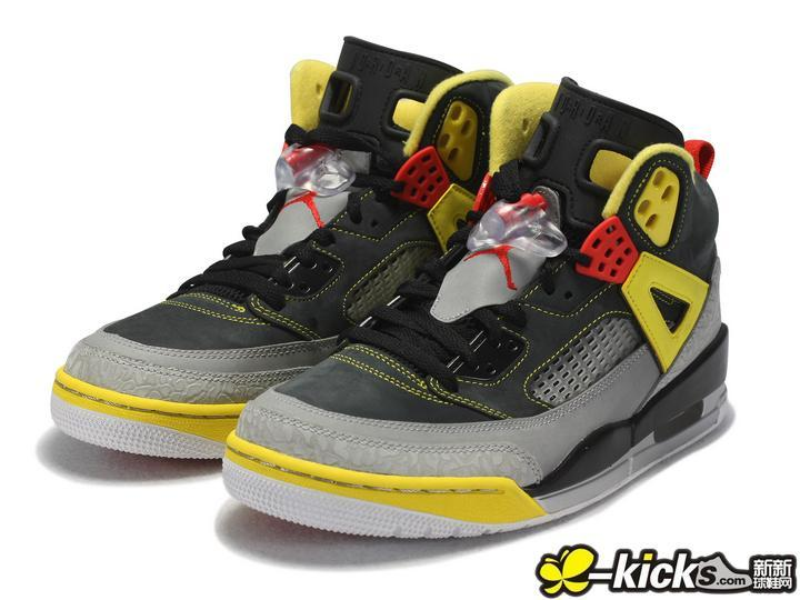 2015 Air Jordan 3.5 Black Grey Yellow Red Shoes